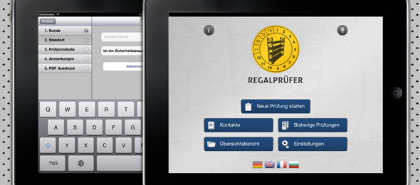 iPad App fr die Qualitt- und Sicherheitsprfung (Regalprfer)