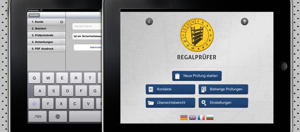 iPad App für die Qualität- und Sicherheitsprüfung (Regalprüfer)
