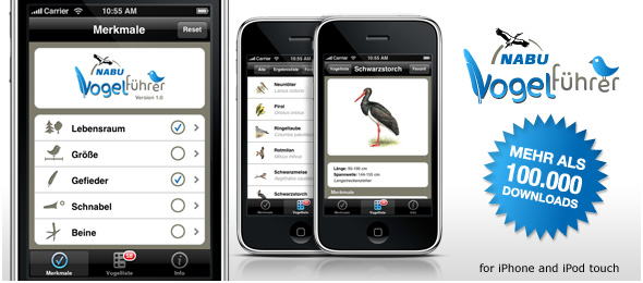 NABU-Vogelführer iPhone App